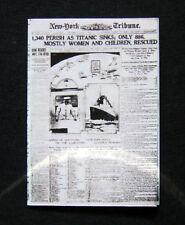 Miniatura Dollshouse GIORNALE - 1912 NY tribune-TITANIC