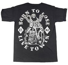 La marca del diablo [born to Biker] t-shirt Live to Win rockabilly Harley rocker