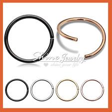 S925 Sterling Silver Ear Lip Nose Eyebrow Septum Piercing Ring Hoop Earrings NEW