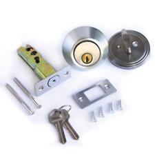Single Cylinder Deadbolt Lock Security Home Entry Handle Door Lock Set w/ Keys