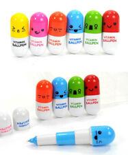 New Cute Pill-style Ballpoint Pens Kawaii Facial Expressions Stationary UK