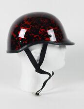 NOVELTY POLO JOCKEY BONEYARD RED MOTORCYCLE BIKER HELMET HELMETS