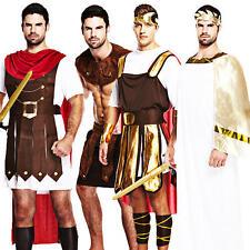 Roman & Greek Mens Fancy Dress Adults Centurion Gladiator Warrior Toga Costume