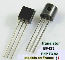 Transistor BF423 / F423 / 423 , polarité PNP , boitier TO-92 , 250V 0.1A  C23.4