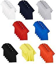 Paquet De 5 Fruit Of The Loom Homme Coton Épais T-Shirt Manche Courte Col Rond