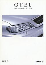 Opel Autoprospekt 1999 8/99 Prospekt Astra Frontera Tigra Zafira Vectra Omega