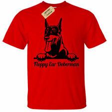 KIDS BOYS GIRLS Floppy ear Doberman T-Shirt dog lover gift present