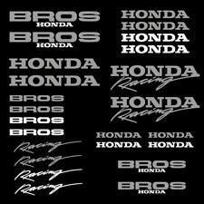 Honda Bros adesivi 24x sticker 2 colore decal casco carro armato racing da corsa
