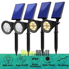 2/4x 6LED Solar Spotlight Garden Lawn Lamp Landscape Lights Outdoor Waterproof