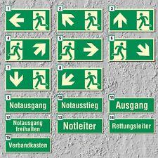 Notausgang Fluchtwegschild Rettungswegschild Schild Nachleuchtend ASR A1.3