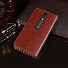 Premium Flip Leather Case TPU Silicone Back Cover Shell For Vodafone Smart V10
