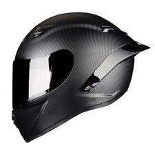Full Face Motorcycle Helmet Motocross Racing Off Road Street Carbon Fiber Matte