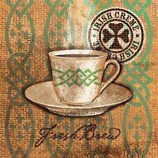 157353 Vintage Retro Coffee Cup Wall Print Poster CA