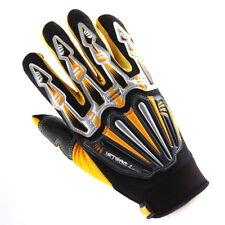 NEW Motorcycle Motocross MX ATV Dirt Bike Racing Skeleton Textile Gloves Yellow
