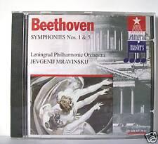 BEETHOVEN SINFONIA N 1 & 5 MRAVINSKIJ  CD