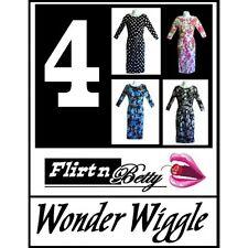 50s 60s Vintage Style Wonder Wiggle 3/4 Sleeve Swing Rockabilly Dress 4 sizes