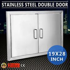 """BBQ 19""""x28"""" Double Access Door Stainless Steel Doors Towel Grade 304 Firm PRO"""