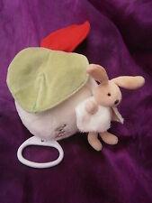 Doudou et compagnie lapin PIM musical blanc vert rouge