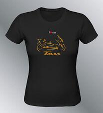 Tee shirt personnalise Tmax S M L XL XXL femme noir maxi scooter line