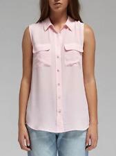 NEW $188 Equipment Slim Signature Sleeveless Blouse Blossom Light Pink XS/S/M/L