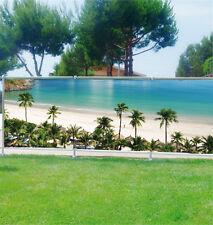 Brise vue déco personnalisé jardins, terrasses et balcons Plage palmier réf 3609