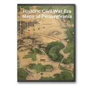 61 Rare Historic Civil War Maps of Pennsylvania PA -  CD - B13