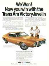 1973 AMERICAN MOTORS JAVELIN ***ORIGINAL AD*** TRANS AM