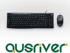Logitech MK200 Multi Media Keyboard Mouse Desktop PC Wired Slim Combo Set