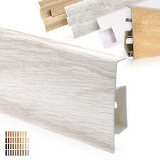 Fussleisten PVC Kunststoff Sockelleisten Zubehör 5 Höhe 52-75mm [10 Meter PAKET]
