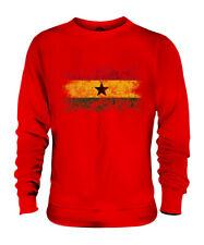 GHANA DISTRESSED FLAG UNISEX SWEATER TOP GHANAIAN SHIRT FOOTBALL JERSEY GIFT