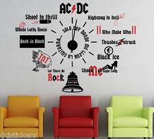 Vinilo decorativo #761# RELOJ ACDC stickers pegatinas
