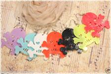 Coppia orecchini pendenti con monachella a forma di teschio colori a scelta