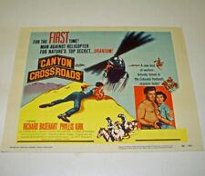 CANYON CROSSROADS 8 Vintage 1955 MOVIE LOBBY CARDS Richard Basehart WESTERN