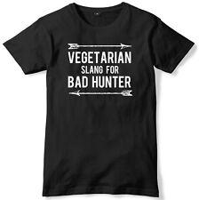 Vegetarian Slang For Bad Hunter Mens Funny Unisex T-Shirt