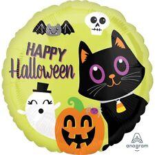 "Happy Halloween Party 18"" Foil Helium Balloon Decoration Cat Ghost Bat Pumpkin"