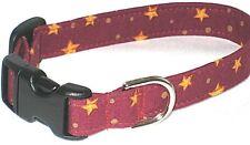 Gold Stars/Maroon (#124) - Poodle, Affenpinscher, Bedlington Terrier, Maltese
