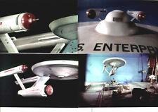 4 STAR TREK Behind-the-scenes 1966 color 8 x 10 photos, Enterprise special FX