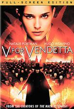 V For Vendetta (DVD, 2006) Full Screen, Natalie Portman - Free Same Day Shipping