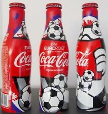 """Bottiglia Alluminio Coca Cola """"Euro 2012"""" 250ml Da Francia anno 2012 LEGGERE!"""