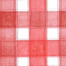 Luxe Uni Blanc Rouge Carreaux PVC Vinyle HUILE TOILE TABLEAU Protecteur de salle à manger Housse