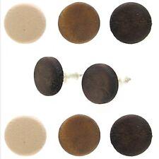 2x Ohrstecker Ohrringe Ohrschmuck Ohr Holz Perle Kugel Dunkel Braun Beige Button