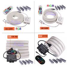 RGB Neon Light Ribbon Tape Flexible 2835 5050 120LEDs/m  Remote 24Key 110V 220V