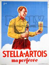 PLAQUE ALU DECO STELLA ARTOIS MA PREFEREE BIERE ALCOOL BOUTEILLE VERRE BEER