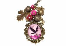 Birdcage Vintage Kette +++ AUSWAHL +++ Halskette Glascabochon Perlen Anhänger