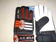 Soccer Goalie Gloves Int.Club Ac Milan & England Black/Rd/Wht JIALON Medium D,M