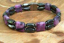 Men's Womens Magnetic Bracelet  Black Hematite & Gemstone Look at all 18 choices