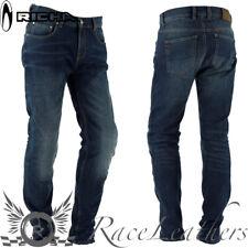 Richa BI elástico azul Aramida Moto Verano Pantalones Vaqueros
