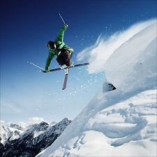 Wandsticker aufkleber deko : Skifahrer - ref 1639 (25 größe)