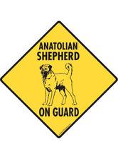 Warning! Anatolian Shepherd On Guard Aluminum Dog Sign and Sticker