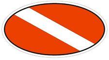 SCUBA FLAG Oval Bumper Sticker or Helmet Sticker D1838 Euro Oval